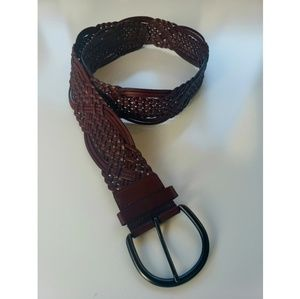 Woven leather belt size XL